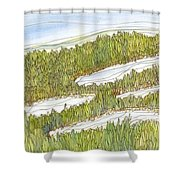 Marsh 8 Shower Curtain