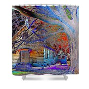 Marsh Berea Mb Church In Color Shower Curtain