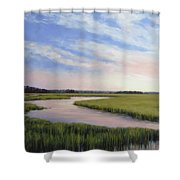 Marsh Blush Shower Curtain