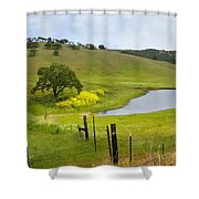 Marsh Creek Road Shower Curtain