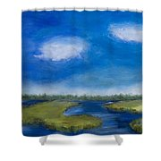 Marsh In The Low Country Shower Curtain