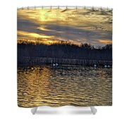 Marsh Ripple Pond Shower Curtain