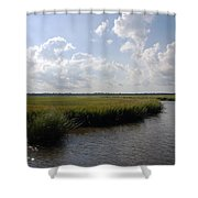 Marsh Scene Charleston Sc II Shower Curtain