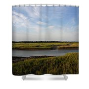 Marsh Scene Charleston Sc Shower Curtain