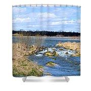 Marsh Spill Way Shower Curtain