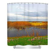 Marsh Spring Shower Curtain