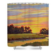 Marsh Sunrise Shower Curtain