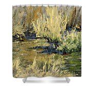 Marsh Twilight Shower Curtain