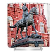 Marshal Georgy Konstantinovich Zhukov Statue Shower Curtain
