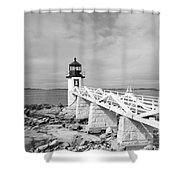 Marshal Point Light 1 Shower Curtain