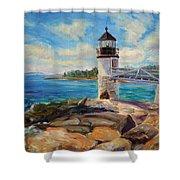 Marshal Point Light Shower Curtain