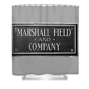 Marshall Field Plaque Shower Curtain
