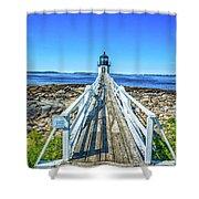 Marshall Point Light Station Shower Curtain