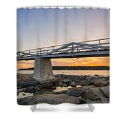 Marshall Point Light Sunset Shower Curtain