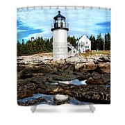 Marshall Point Reflection Shower Curtain