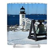 Marshall Point Snow Shower Curtain