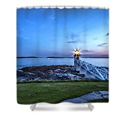 Marshall Point View Shower Curtain