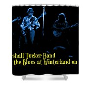 Marshall Tucker Winterland 1975 #18 Enhanced In Blue With Text Shower Curtain