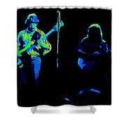 Marshall Tucker Winterland 1975 #18 Enhanced In Cosmicolors #2 Shower Curtain