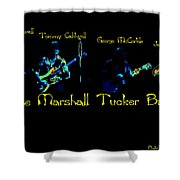 Marshall Tucker Winterland 1975 #19 Enhanced In Cosmicolors With Text Shower Curtain