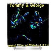 Marshall Tucker Winterland 1975 #36 Enhanced In Cosmicolors With Text Shower Curtain