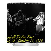 Marshall Tucker Winterland 1975 #37 Crop 2 With Text Shower Curtain
