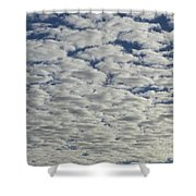 Marshmallow Sky Shower Curtain