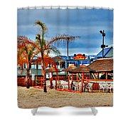 Martells On The Beach - Jersey Shore Shower Curtain
