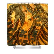 Martha And Babe - Tile Shower Curtain