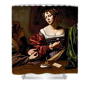 Martha And Mary Magdalen Shower Curtain