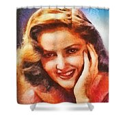 Martha Vickers, Vintage Hollywood Actress Shower Curtain