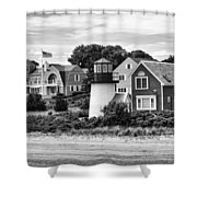 Hyannis Lighthouse Bw Shower Curtain
