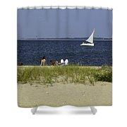 A Day At The Beach 2 - Martha's Vineyard Shower Curtain