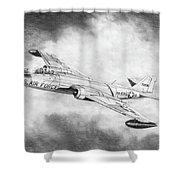 Martin B-57 Intruder  Shower Curtain