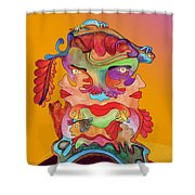 Martin-hardy-dualface2 Shower Curtain