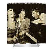 Martin, Lewis, And Clooney Shower Curtain