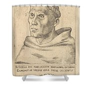 Martin Luther As An Augustinian Monk Shower Curtain