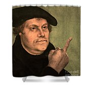 Martin Luther  Finger Shower Curtain