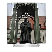 Martin Luther In Market Square Shower Curtain