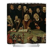 Martin Luther In The Circle Of Reformers Shower Curtain