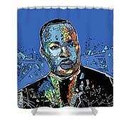 Martin Luther King Color Shower Curtain