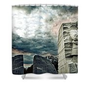 Martin Luther King Memorial At Sunset Shower Curtain