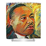 Martin Luther King Portrait 1 Shower Curtain