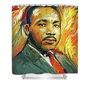 Martin Luther King Portrait 2 Shower Curtain