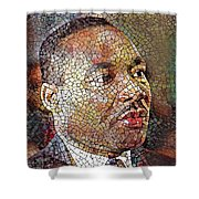 Martin Luther King Portrait Mosaic 1 Shower Curtain