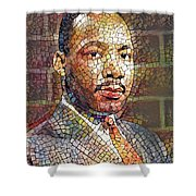 Martin Luther King Portrait Mosaic 2 Shower Curtain