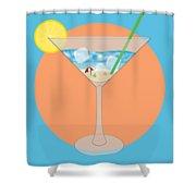 Martini Beach Shower Curtain
