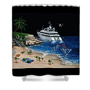 Martini Cove La Jolla Shower Curtain