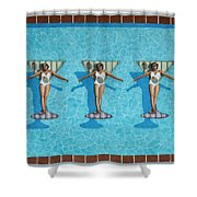 Martini Girls Shower Curtain
