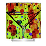 Martini Madness  Shower Curtain